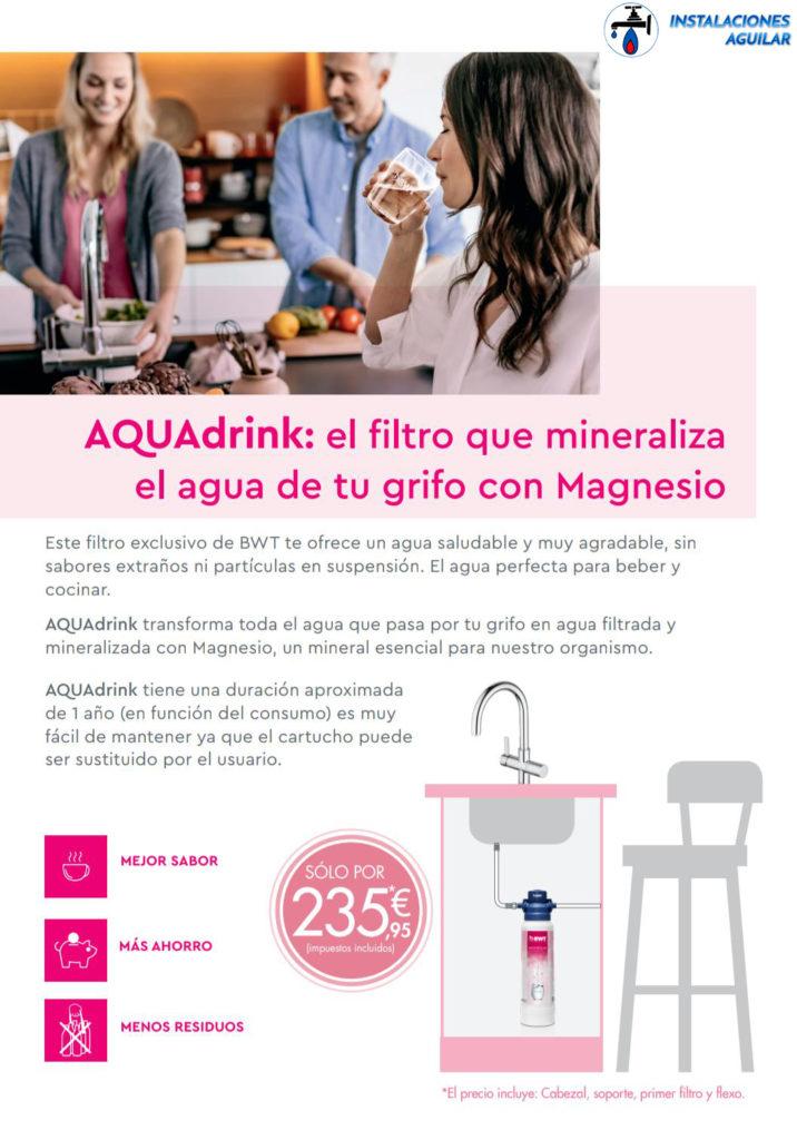 AQDrink - Instaladores oficiales de sitemas de mineralización de agua en Barcelona