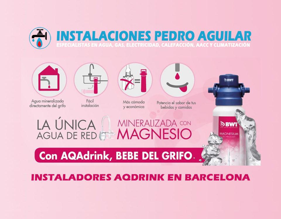 Instaladores de Sistemas AQDrink en Barcelona y el Barcelonés